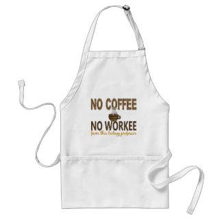 Nenhum café nenhum professor da biologia de Workee Aventais