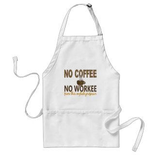 Nenhum café nenhum professor do inglês de Workee Avental