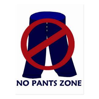 Nenhum cartão da zona das calças