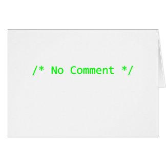 Nenhum comentário cartão comemorativo