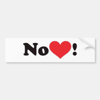 Nenhum coração 02 adesivo para carro