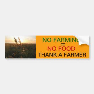 Nenhum cultivo = nenhuma comida adesivo para carro