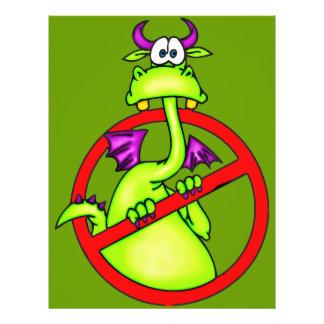 Nenhum dragão permitiu o símbolo flyer 21.59 x 27.94cm