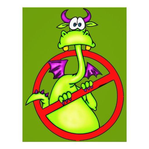 Nenhum dragão permitiu o símbolo modelo de panfletos