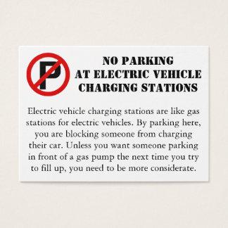 Nenhum estacionamento em pontos de carregamento de cartão de visitas
