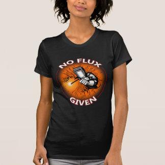Nenhum fluxo dado - camiseta engraçada do soldador