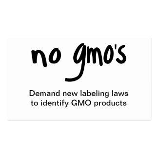 Nenhum GMO come o branco saudável da promoção da Cartão De Visita