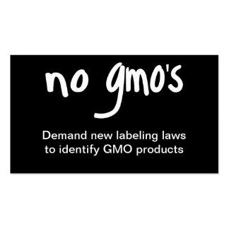 Nenhum GMO come o preto saudável da promoção da Cartão De Visita