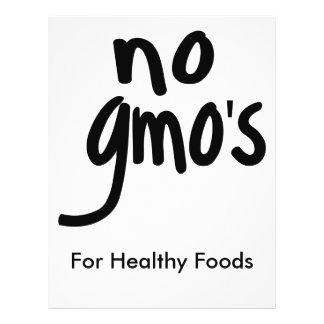 Nenhum GMO para o branco relativo à promoção da Flyer 21.59 X 27.94cm