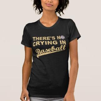 Nenhum grito no basebol (bege) camisetas