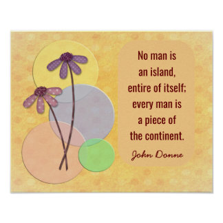 Nenhum homem uma ilha - impressão das citações de