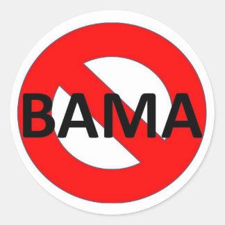 Nenhum imbecil de Obama Adesivo Em Formato Redondo