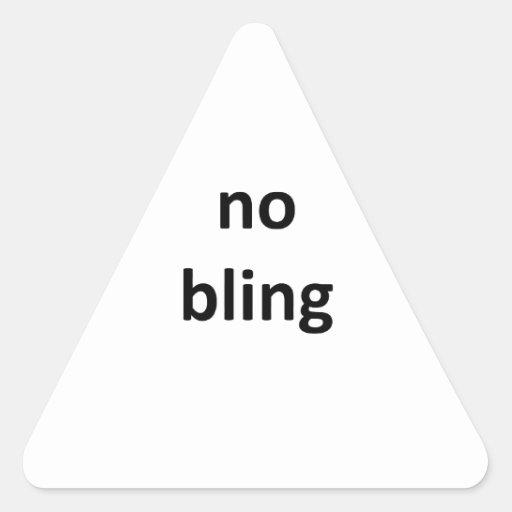 nenhum jGibney bling O MUSEU Zazzle Gifts.png Adesivo Em Forma De Triângulo