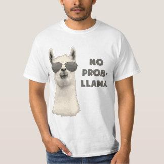 Nenhum lama do problema camiseta
