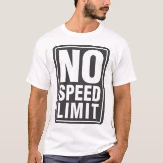 Nenhum limite de velocidade (1) camiseta