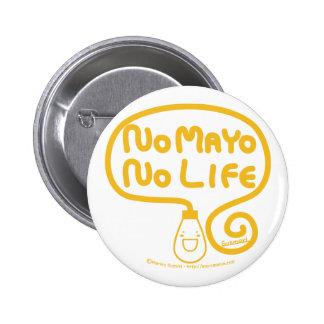 Nenhum Mayo nenhuma vida Bóton Redondo 5.08cm