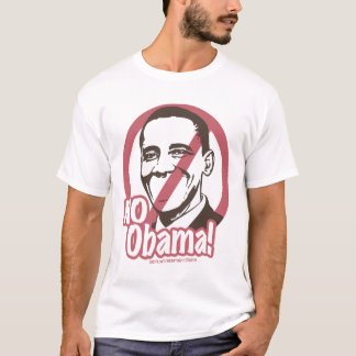 Nenhum Obama! Camisa do corte