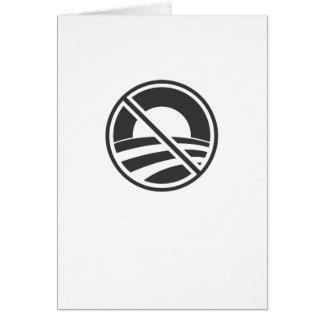 Nenhum Obama Cartão Comemorativo