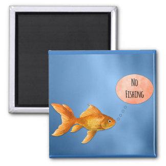 Nenhum peixe dourado da pesca imã