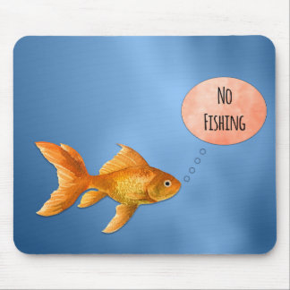 Nenhum peixe dourado Mousepad da pesca