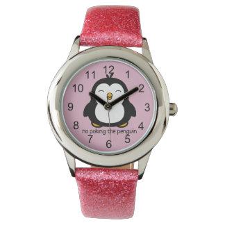 Nenhum picar o pinguim relógios