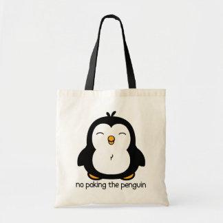Nenhum picar o pinguim sacola tote budget