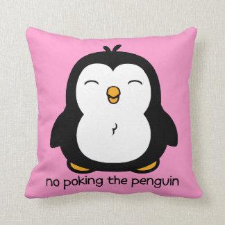 Nenhum picar o pinguim travesseiros de decoração
