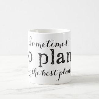 Nenhum plano é os melhores planos - caneca