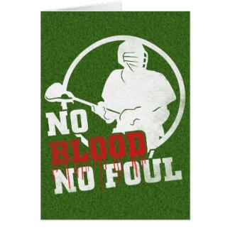 Nenhum sangue nenhum cartão sujo do Lacrosse