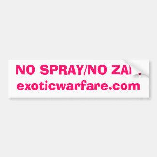 NENHUM SPRAY/NO ZAP! exoticwarfare.com Adesivo Para Carro