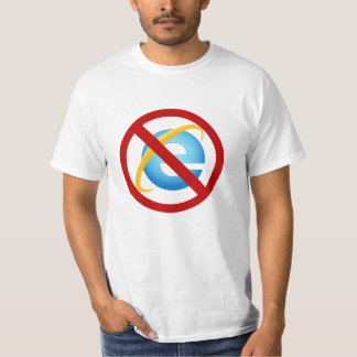 Nenhum t-shirt de Internet Explorer (greve Camiseta