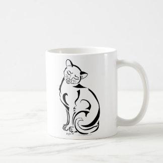 Nenhum texto) caneca impertinente do gatinho (