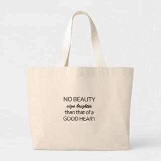 nenhuma beleza bolsa tote grande