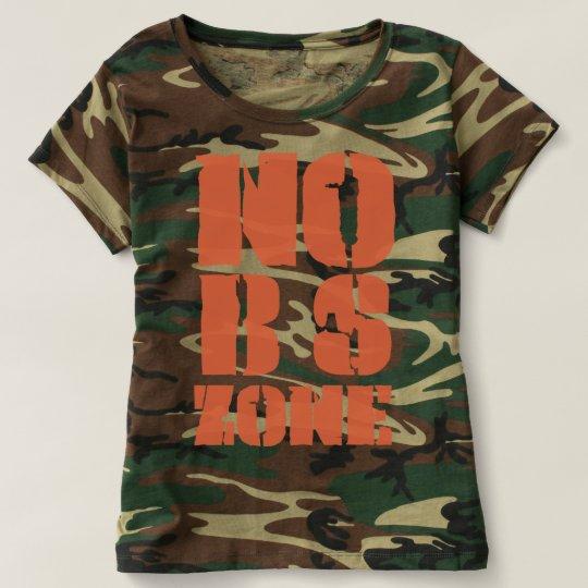 Nenhuma BS divide o t-shirt da camuflagem da Camiseta