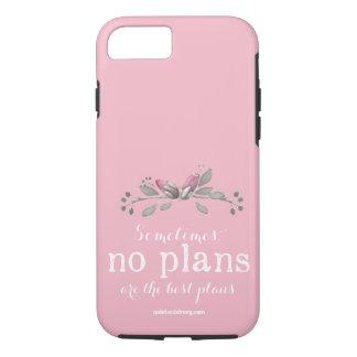 Nenhuma capa de telefone introvertida floral dos