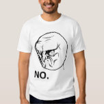 Nenhuma cara irritada Rageface Meme da raiva Camiseta