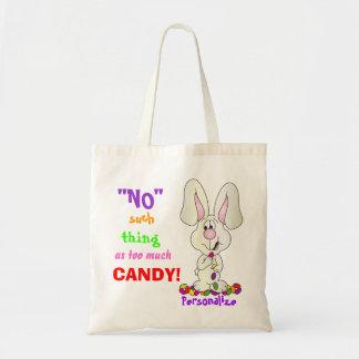 Nenhuma coisa como demasiada páscoa dos doces | sacola tote budget