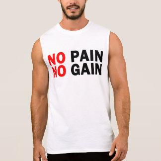 nenhuma dor nenhum ganho camisas sem manga
