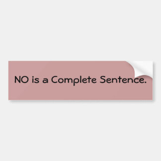 NENHUMA é uma frase completa Adesivo Para Carro