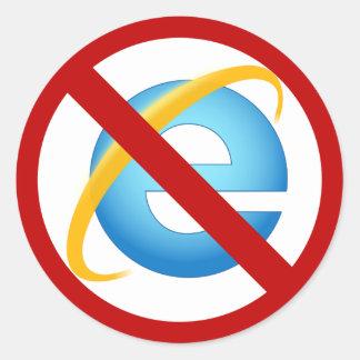 Nenhuma etiqueta de Internet Explorer (curso Adesivo