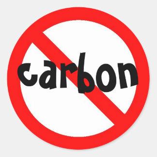 nenhuma etiqueta do carbono adesivos em formato redondos