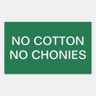 Nenhuma etiqueta engraçada do algodão adesivo retangular