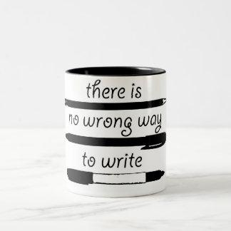 Nenhuma maneira errada de escrever, caneca do