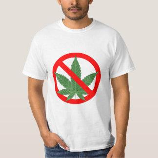 Nenhuma marijuana proibe o cannabis t-shirt