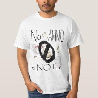 nenhuma munição nenhum divertimento t-shirts