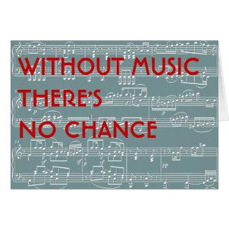 nenhuma música nenhuma possibilidade cartões