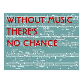 nenhuma música nenhuma possibilidade cartão postal