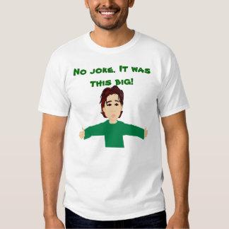Nenhuma piada era este t-shirt grande