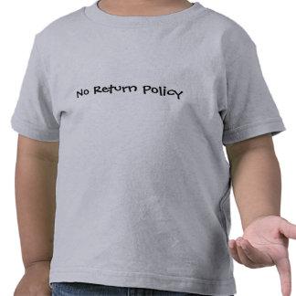Nenhuma política do retorno t-shirt