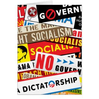 Nenhuma propaganda socialista cartão comemorativo